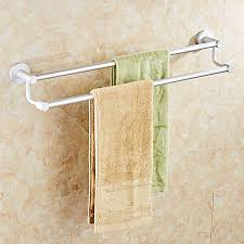 double towel bars black color wall mounted towel holder hanger bathroom accessories