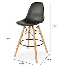 eames bar stool. Exellent Eames Eames DSW Barstool Black Dimensions For Bar Stool R
