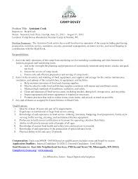 Sample Resume Of Assistant Cook Augustais