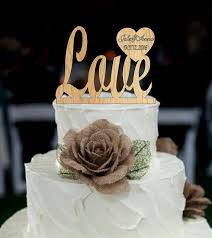 Wedding Cake Topperlove Topper With Date And First Names