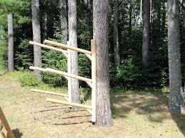 wooden kayak rack free standing kayak storage rack plans quick woodworking
