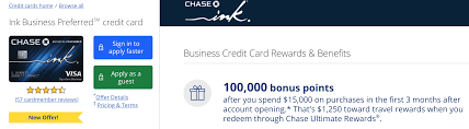 Once approved, the transfer of funds can be quick, allowing you to address your credit card problems immediately. Chase Ink Preferred 100 000 Points Offer With 15 000 Spend Public Offer Doctor Of Credit