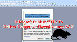Ms Office Publisher Microsoft Publisher File To Deliver Dangerous Flawedammyy Rat