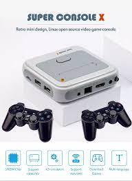 Hot Super X Retro Game Console Support Wifi 4k Hd Video Game Player Classic  Ps1 Gameboy 40000 Games 128g Tv Gaming Console Box - Buy Game Console,Retro  Game Console,Tv Gaming Console Box
