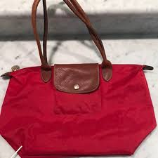 longch large le pliage tote red nordstrom saks