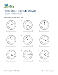 Grade 2-telling-time-5-minute-intervals-a