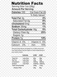 nutrition facts label broad bean tary fiber peanut protein fava beans png 614 1190 free transpa nutrition facts label png