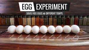 Sous Vide Egg Experiment Opening Several Eggs At Different Temps