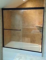 semi frameless shower door oil rubbed bronze