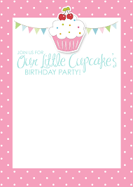 printable birthday invitations templates bronvite cupcake themed birthday party printables