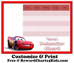 Free Printable Cars Potty Training Chart Free Behavior Charts