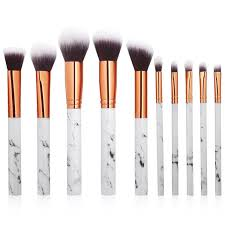 isy professional 10pcs makeup brushes kit marbling kabuki cosmetic make up tool set foundation brush