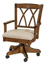 Custom made office chairs Vancouver Amish Custom Crafted Alexis Desk Chair With Our Popular Kevco Castered Desk Base Shown Crafted Out Of Solid Brown Maple Hardwood With Nutmeg Stain And Office Revolving Chair Everychina Woodloftcom Amish Custom Made Desk Chairs
