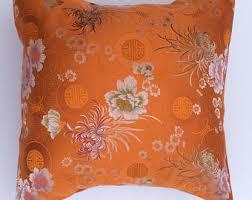 oriental throw pillows. Exellent Pillows Asian Pillow Cover Orange Asian Pillow Throw Pillow CoverChinoiserie  Decor Japanese For Oriental Pillows E