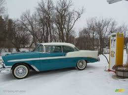 1956 Nassau Blue/India Ivory Chevrolet Bel Air 2 Door Hardtop ...