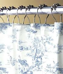 toile shower curtains white and blue shower curtain toile shower curtain blue