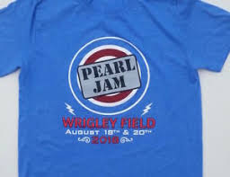 Details About Pearl Jam 2018 Wrigley Field Concert T Shirt 8 18 8 20 Pj Chicago Cubs Heather
