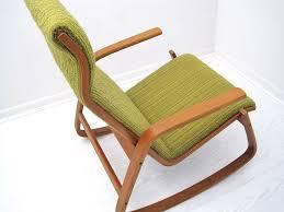 mid century scandinavian bentwood rocking chair