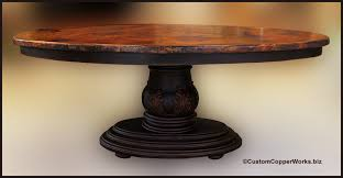 dining table base wood. OVAL COPPER TOP DINING TABLE: Copper Table Top - 78 X 48 1.5 Inches Dining Base Wood