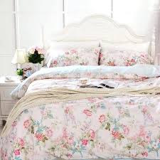 100 cotton duvet covers pink blue fl bedding sets cotton duvet cover bed comforter sets cotton