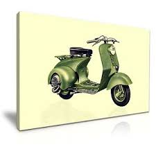 office deco. Image Is Loading Vintage-and-Classic-Vespa-Scooter-Canvas-Wall-Art- Office Deco