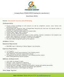 Sales & Marketing Job At Foshan Group