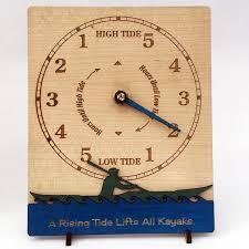 wood sea kayaker tide clock