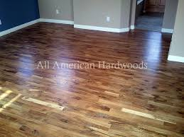 these are all solid hardwood floors installed and finished in place rustic grade solid white
