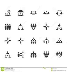 Teamwork Presentations Teamwork Icons Gray Version Stock Vector Illustration Of