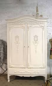white wood wardrobe armoire shabby chic bedroom. French Armoire Painted Cottage Chic Shabby Romantic Armoi White Wood Wardrobe Bedroom #