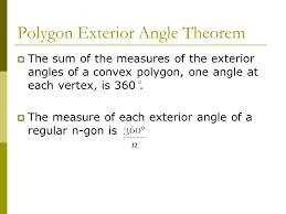 exterior angle formula for polygons. polygon exterior angle theorem formula for polygons i