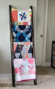 $15 DIY Quilt Ladder - we need this with all the blankets we have ... & DIY Quilt Ladder Adamdwight.com