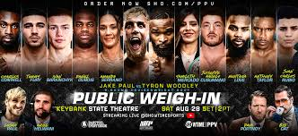 Paul will meet tyron woodley in a boxing match later this summer, both paul and woodley told espn. Jake Paul Vs Tyron Woodley Live Weigh In Playhouse Square