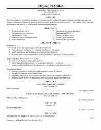 Hvac Technician Resume Format Lovely Resume Templates Diesel