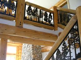 metal handrails for deck stairs. balcony panel (metal art silhouette deck and loft railing) szabados metal handrails for stairs v
