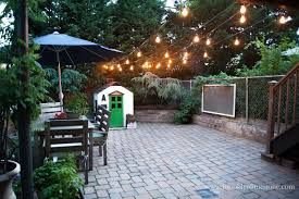 Edison Outdoor Patio Lights Outdoor String Lights Hung Brooklyn Limestone