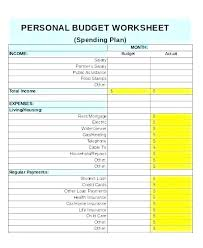 Budget Expense Sheet Printable Budget Worksheet Free Word Excel Documents