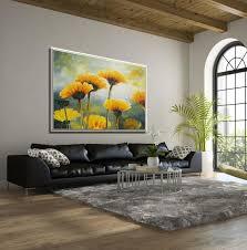 flower wall art living room wall art