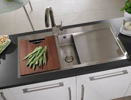 double kitchen sink stainless steel with drainboard vantage 1 5