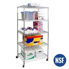 36 ultradurable commercial grade 5 tier nsf steel wire shelving with wheels seville classics