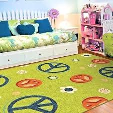 playroom rug kids rugs area for room peace flower childrens australia