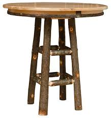 rustic pub table 36 round 42 tall