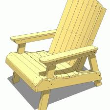 a yellow diagram of an adirondack chair