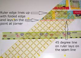 Sew Fresh Quilts: Mitered Border Quilt Tutorial & ... quilt top, with the 45 degree mark on the ruler on the seam line you  just sewed. Mark the border from the point at the corner out to the border  edge. Adamdwight.com