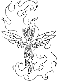 Awesome Daybreaker Coloring Page Line Art Celestia Mlp By Sanorace