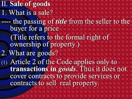 Sales 1. How And Why Sales Contract Differ From Contracts Made Under ...