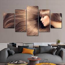 flowing hair multi panel canvas wall