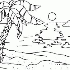 Small Picture Palm Tree And Beach Coloring Page palm tree coloring pages
