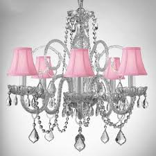 baby bedroom gorgeous pink chandelier decorated style crystal glass arms chandelier shades captures reflects light candle