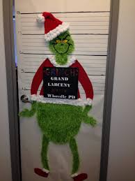 The Grinch - Christmas Office Door Decorating Contest.... Sheryl made it